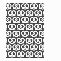 Gray Pretzel Illustrations Pattern Small Garden Flag (Two Sides)