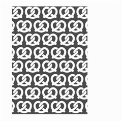 Gray Pretzel Illustrations Pattern Large Garden Flag (two Sides)