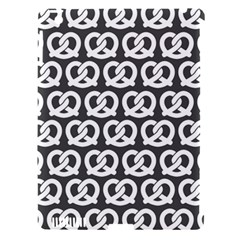 Gray Pretzel Illustrations Pattern Apple iPad 3/4 Hardshell Case (Compatible with Smart Cover)