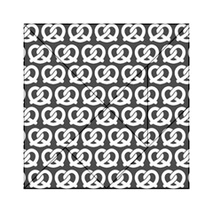 Gray Pretzel Illustrations Pattern Acrylic Tangram Puzzle (6  X 6 )