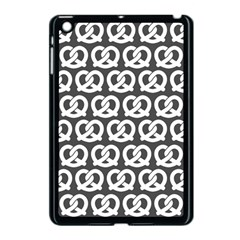 Gray Pretzel Illustrations Pattern Apple iPad Mini Case (Black)
