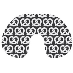Gray Pretzel Illustrations Pattern Travel Neck Pillows