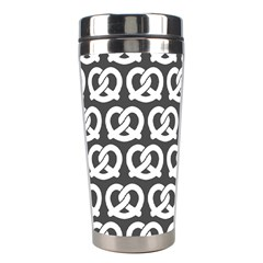 Gray Pretzel Illustrations Pattern Stainless Steel Travel Tumblers