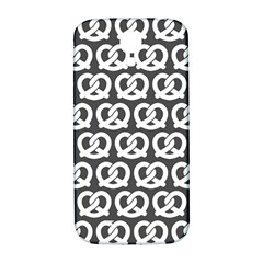 Gray Pretzel Illustrations Pattern Samsung Galaxy S4 I9500/I9505  Hardshell Back Case