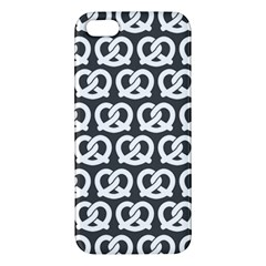 Gray Pretzel Illustrations Pattern iPhone 5S Premium Hardshell Case