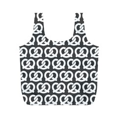 Gray Pretzel Illustrations Pattern Full Print Recycle Bags (m)