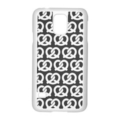 Gray Pretzel Illustrations Pattern Samsung Galaxy S5 Case (white)