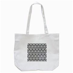 Gray Pretzel Illustrations Pattern Tote Bag (White)