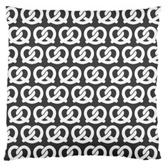 Gray Pretzel Illustrations Pattern Large Flano Cushion Cases (Two Sides)