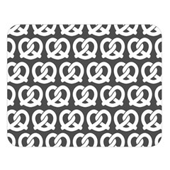 Gray Pretzel Illustrations Pattern Double Sided Flano Blanket (Large)