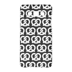 Gray Pretzel Illustrations Pattern Samsung Galaxy A5 Hardshell Case