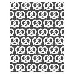 Gray Pretzel Illustrations Pattern Drawstring Bag (Large)