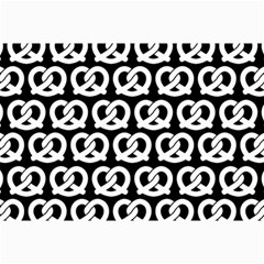 Black And White Pretzel Illustrations Pattern Collage 12  x 18