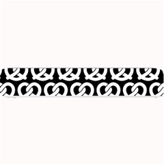 Black And White Pretzel Illustrations Pattern Small Bar Mats