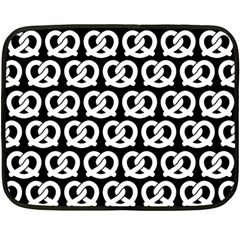 Black And White Pretzel Illustrations Pattern Fleece Blanket (mini)