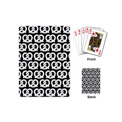 Black And White Pretzel Illustrations Pattern Playing Cards (Mini)