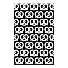 Black And White Pretzel Illustrations Pattern Shower Curtain 48  x 72  (Small)