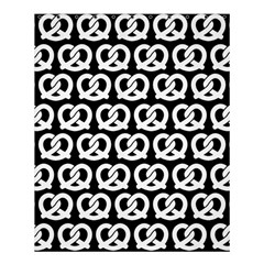 Black And White Pretzel Illustrations Pattern Shower Curtain 60  x 72  (Medium)