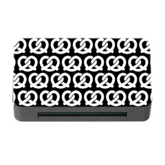 Black And White Pretzel Illustrations Pattern Memory Card Reader with CF
