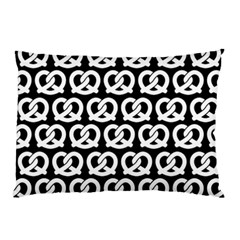 Black And White Pretzel Illustrations Pattern Pillow Cases (Two Sides)
