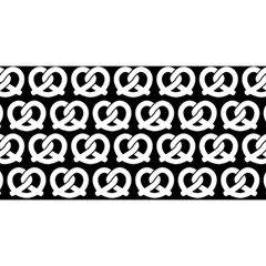 Black And White Pretzel Illustrations Pattern YOU ARE INVITED 3D Greeting Card (8x4)