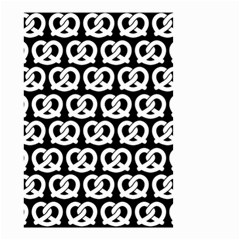 Black And White Pretzel Illustrations Pattern Small Garden Flag (two Sides)