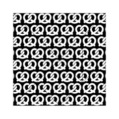 Black And White Pretzel Illustrations Pattern Acrylic Tangram Puzzle (6  X 6 )