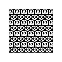 Black And White Pretzel Illustrations Pattern Acrylic Tangram Puzzle (4  x 4 )