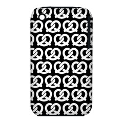 Black And White Pretzel Illustrations Pattern Apple Iphone 3g/3gs Hardshell Case (pc+silicone)