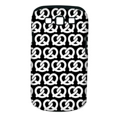 Black And White Pretzel Illustrations Pattern Samsung Galaxy S III Classic Hardshell Case (PC+Silicone)