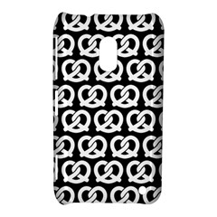 Black And White Pretzel Illustrations Pattern Nokia Lumia 620