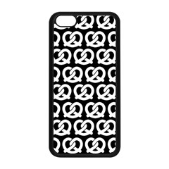 Black And White Pretzel Illustrations Pattern Apple Iphone 5c Seamless Case (black)