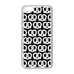 Black And White Pretzel Illustrations Pattern Apple Iphone 5c Seamless Case (white)