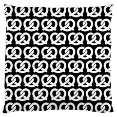 Black And White Pretzel Illustrations Pattern Standard Flano Cushion Cases (two Sides)