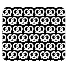 Black And White Pretzel Illustrations Pattern Double Sided Flano Blanket (Small)