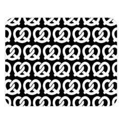 Black And White Pretzel Illustrations Pattern Double Sided Flano Blanket (large)