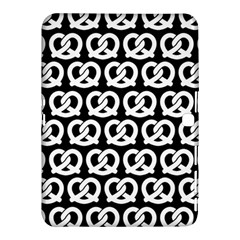 Black And White Pretzel Illustrations Pattern Samsung Galaxy Tab 4 (10 1 ) Hardshell Case
