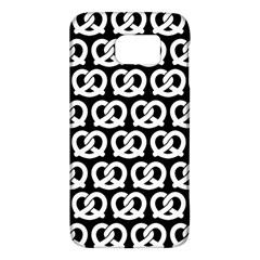 Black And White Pretzel Illustrations Pattern Galaxy S6