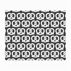 Gray Pretzel Illustrations Pattern Small Glasses Cloth