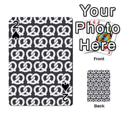 Gray Pretzel Illustrations Pattern Playing Cards 54 Designs