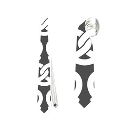 Gray Pretzel Illustrations Pattern Neckties (One Side)