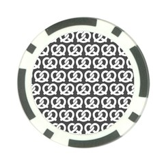 Gray Pretzel Illustrations Pattern Poker Chip Card Guards (10 pack)