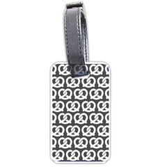 Gray Pretzel Illustrations Pattern Luggage Tags (One Side)