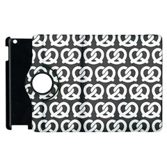 Gray Pretzel Illustrations Pattern Apple Ipad 3/4 Flip 360 Case