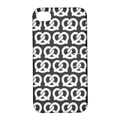 Gray Pretzel Illustrations Pattern Apple iPhone 4/4S Hardshell Case with Stand