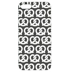 Gray Pretzel Illustrations Pattern Apple iPhone 5 Hardshell Case with Stand