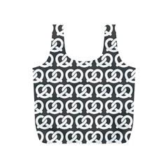 Gray Pretzel Illustrations Pattern Full Print Recycle Bags (S)