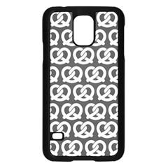 Gray Pretzel Illustrations Pattern Samsung Galaxy S5 Case (Black)