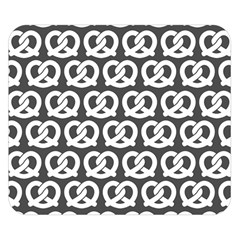 Gray Pretzel Illustrations Pattern Double Sided Flano Blanket (Small)