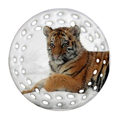 Tiger 2015 0101 Round Filigree Ornament (2Side)